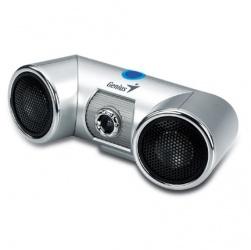 Genius Webcam Look 313 Media, 640 x 480 Pixeles, USB, Plata