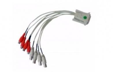 GeoVision Adaptador DVI Macho - 4 RCA + 4 Video Hembra, Gris/Rojo