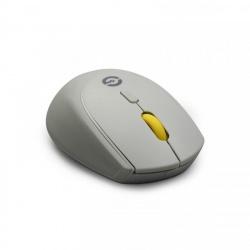 Mouse Getttech Óptico GAC-24407G, Inalámbrico, USB, 1600DPI, Gris/Amarillo