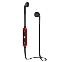 Getttech Audífonos Intrauriculares con Micrófono Tune, Inalámbrico, Bluetooth, Negro/Rojo