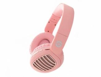Getttech Audífonos GDJ-33201, Bluetooth, Alámbrico/Inalámbrico, 1 Metro, 3.5mm, Rosa