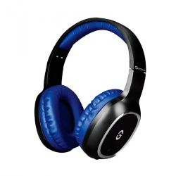 Getttech Audífonos con Micrófono GH-4640A, Bluetooth, Inalámbrico, Negro/Azul