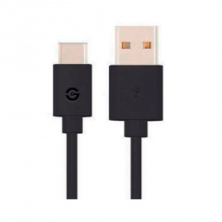 Getttech Cable USB A Macho - USB C Macho, 1.5 Metros, Negro
