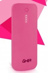 Cargador Portátil Ghia Power Bank Volta GAC-029, 12000mAh, Rosa
