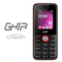 """Celular Ghia QG10 1.77"""", SIM Doble, Bluetooth, Negro/Rojo"""