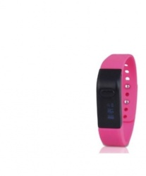 Ghia Band Fit RELOJ-7, Touch, Bluetooth 4.0, Android 4.3/iOS 7.1, Rosa - Resistente al Agua