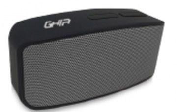 Ghia Bocina Wave, Bluetooth, Alámbrico/Inalámbrico, 3W RMS, Negro - Resistente al Agua