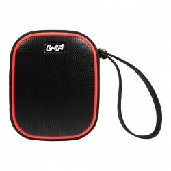 Ghia Bocina Vortex, Bluetooth, Alámbrico/Inalámbrico, 6W RMS, Negro/Rojo - Resistente al Agua