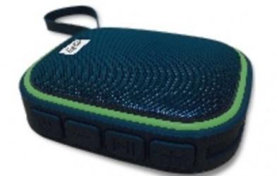 Ghia Bocina Vortex, Bluetooth, Alámbrico/Inalámbrico, 6W RMS, Negro/Verde - Resistente al Agua