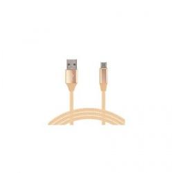 Ghia Cable USB A Macho - Micro USB B Macho, 1 Metro, Dorado