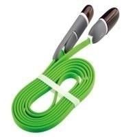 Ghia Cable de Carga 2 en 1 USB Macho - Micro USB/Lightning Macho, 1 Metro, Verde, para iPhone/iPad/Smartphone
