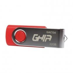 Memoria USB Ghia GAC-136, 32GB, USB 2.0, Rojo