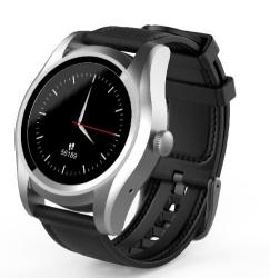 Ghia Smartwatch GAC-145, Touch, Bluetooth 4.0, Android 7.1/iOS 9.3, Negro/Plata - Resistente al Agua