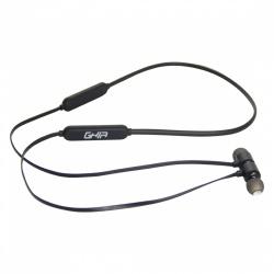 Ghia Audífonos Intrauriculares Deportivos con Micrófono GAC-159, Inalámbrico, Bluetooth, Negro
