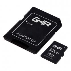 Memoria Flash Ghia, 32GB MicroSDHC, Clase 10, con Adaptador