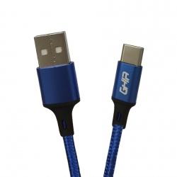 Ghia Cable USB A Macho - USB C Macho, 1 Metro, Azul