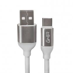 Ghia Cable USB-A Macho - USB-C Macho, 1 Metro, Blanco