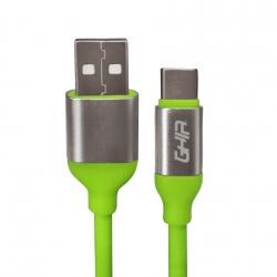 Ghia Cable USB-A Macho - USB-C Macho, 1 Metro, Verde