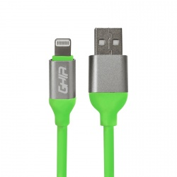 Ghia Cable de Carga USB A Macho - Lightning Macho, 1 Metro, Verde, para iPhone/iPad
