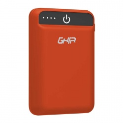 Cargador Portátil Ghia Power Bank GAC-229, 5000mAh, Rojo