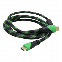 Ghia Cable HDMI Macho - HDMI Macho, 2 Metros, Negro/Verde