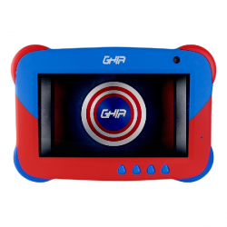 "Tablet Ghia 7 KIDS 7"", 16GB, 1024 x 600 Pixeles, Android 9.0 Go Edition, Bluetooth 4.0, Negro/Rojo"
