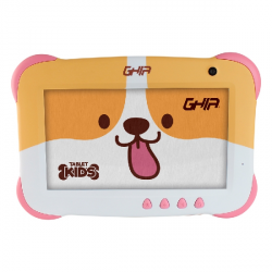 "Tablet Ghia 7 KIDS7"", 16GB, 1024 x 600 Pixeles, Android 9.0 Go Edition, Bluetooth 4.0, Rosa"