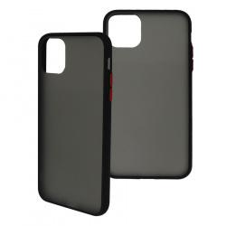 Ghia Funda con Mica AC-8924 para iPhone 11 Pro, Negro/Semitransparente