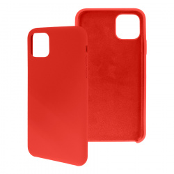 Ghia Funda de Silicona AC-8895 con Mica para iPhone 11 Pro Max, Rojo