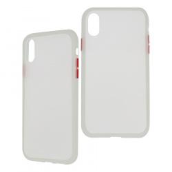 Ghia Funda con Mica AC-8937 para iPhone XR, Blanco/Semitransparente