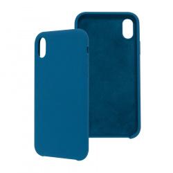 Ghia Funda con Mica AC-8920 para iPhone XR, Azul