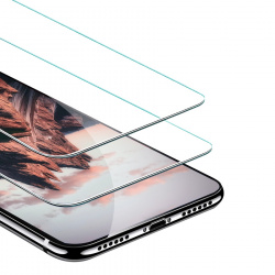 Ghia Protector de Pantalla AC-8969 para iPhone XS Max, Transparente, 2 Piezas