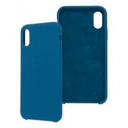 Ghia Funda de Silicona AC-8910 con Mica para iPhone XS/X, Azul