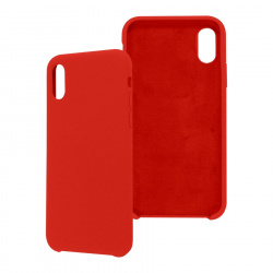 Ghia Funda de Silicona AC-8909 con Mica para iPhone XS/X, Rojo