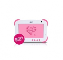 Tablet Ghia ANY Kids Q+ 7'', 8GB, 1024 x 600 Pixeles, Android 5.1, WLAN, Rosa/Blanco