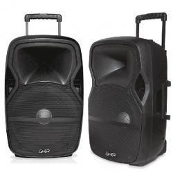 Ghia Combo Bafles SPK-1766, Bluetooth, Alámbrico, 25.000W RMS, USB, Negro, 2 Piezas