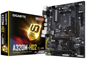 Tarjeta Madre Gigabyte micro ATX GA-A320M-HD2, S-AM4, AMD A320, HDMI, 32GB DDR4, para AMD
