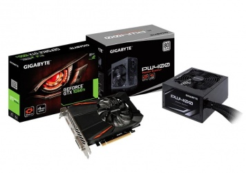 Gigabyte Revival Kit -Tarjeta de video NVIDIA GeForce GTX 1050 Ti 4GB GV-N105TD5-4GD + Fuente de poder PW400 400W 80 Plus
