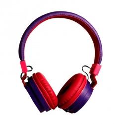 Ginga Audífonos GI16ADJ02BT, Bluetooth, Inalámbrico, Rosa/Púrpura