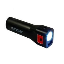 Ginga Cargador Portátil GI16PBK01-NR, 2200mAh, USB, Negro