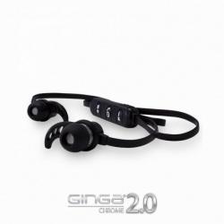 Ginga Audífonos Intrauriculares con Micrófono Chrome 2, Inalámbrico, Bluetooth, Negro