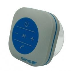 Ginga POP Bocina Contra Agua, Bluetooth, Inalámbrico, Azul/Gris - Resistente al Agua