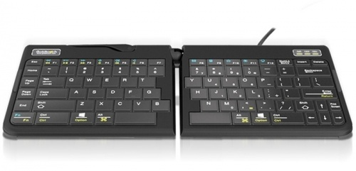Teclado Goldtouch Go!2 Mobile Keyboard, Alámbrico, USB, Negro (Inglés)