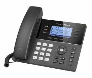 Grandstream Teléfono IP GXP1760, 6 Lineas, 4 Teclas Programables, Altavoz, Negro