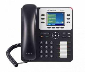 Grandstream Teléfono IP GXP2130 con Pantalla 2.8'', 3 Lineas, 4 Teclas Programables, Altavoz, Negro/Gris