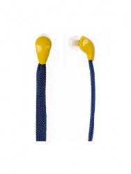 Grixx Audífonos Intrauriculares GROHIELACE01, Alámbrico, 1.2 Metros, 3.5mm, Azul/Amarillo