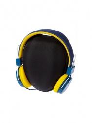 Grixx Audífonos Retro, Alámbrico, 1.2 Metros, 3.5mm, Azul/Amarillo
