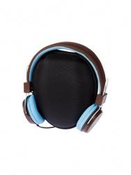 Grixx Audífonos Retro, Alámbrico, 1.2 Metros, 3.5mm, Azul/Marrón