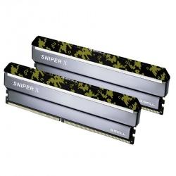Kit Memoria Ram G.Skill Sniper X DDR4, 3000MHz, 16GB (2x 8GB), Non ECC, CL16, XMP, 1.35V