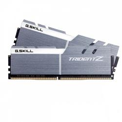 Kit Memoria RAM G.Skill DDR4 TridentZ, 3200MHz, 16GB (2 x 8GB), Non-ECC, CL16, Plata/Blanco